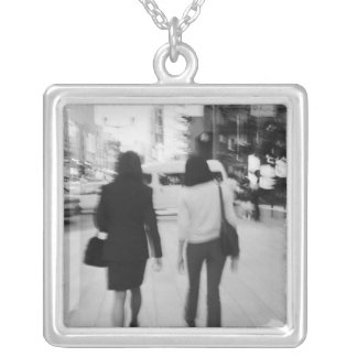Asia, Japan, Tokyo. Young women on the Ginza. Square Pendant Necklace
