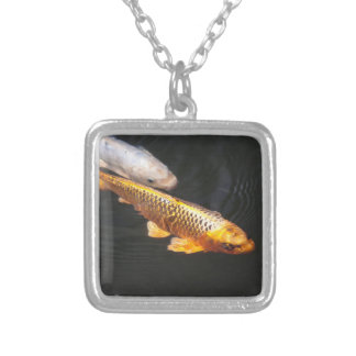 Asia Koi Fish Silver Plated Necklace