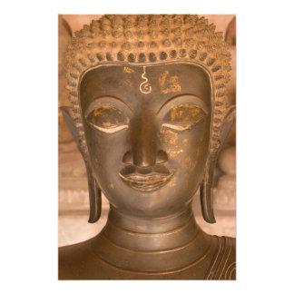 Asia, Laos, Vientiane, Bronze sculpture at Wat Photograph