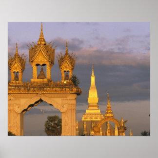 Asia, Laos, Vientiane. That Luang Temple. Poster