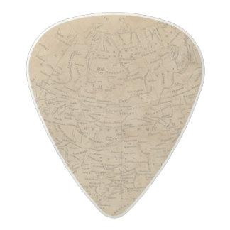 Asia Map 3 Acetal Guitar Pick