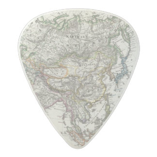 Asia Map by Stieler Acetal Guitar Pick