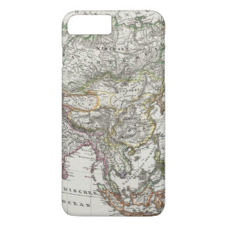 Asia Map by Stieler iPhone 7 Plus Case