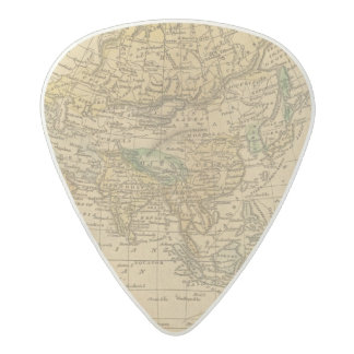 Asia  Map by Worcester Acetal Guitar Pick