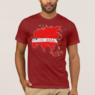Asia Map Designer Shirt Apparel Sale Him or Hers
