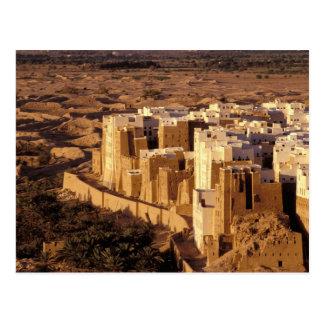 Asia, Middle East, Republic of Yemen, Shibam Postcard