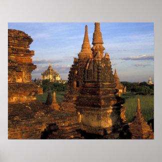 Asia, Myanmar, Bagan. Ancient temples and Poster