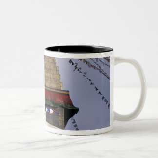 Asia, Nepal, Kathmandu. Bouddhanath Stupa. 2 Two-Tone Coffee Mug