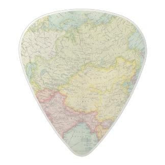 Asia political atlas map acetal guitar pick