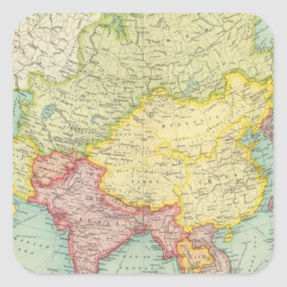 Asia political atlas map stickers