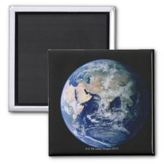 Asia Seen from Space Square Magnet