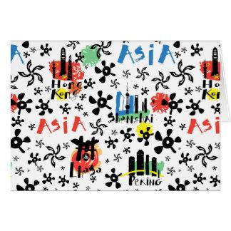 Asia   Symbols Pattern Card