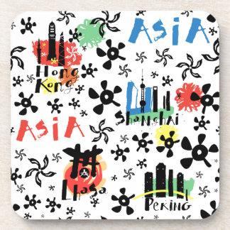 Asia | Symbols Pattern Coaster