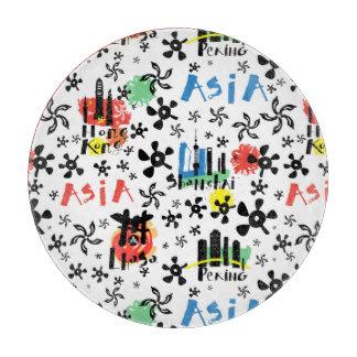 Asia | Symbols Pattern Cutting Board