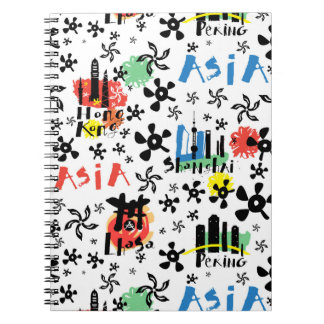 Asia | Symbols Pattern Notebook