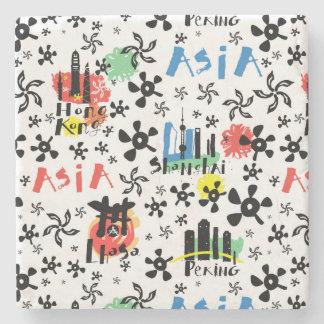 Asia | Symbols Pattern Stone Coaster