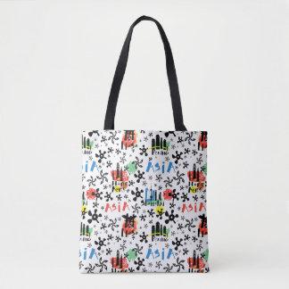 Asia | Symbols Pattern Tote Bag