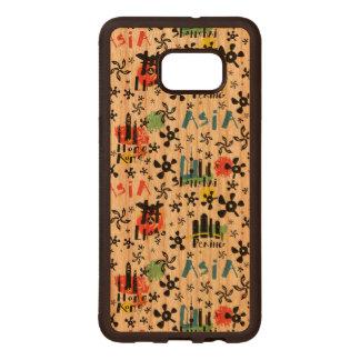Asia   Symbols Pattern Wood Samsung Galaxy S6 Edge Case