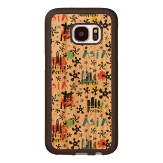 Asia | Symbols Pattern Wood Samsung Galaxy S7 Case
