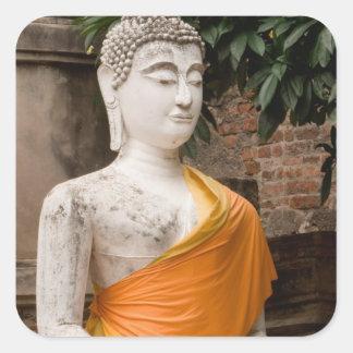 Asia, Thailand, Siam, Buddha at Ayutthaya Square Sticker
