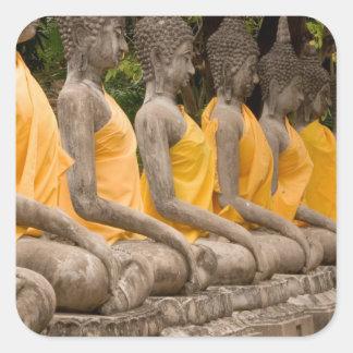 Asia, Thailand, Siam, Buddhas at Ayutthaya Square Sticker