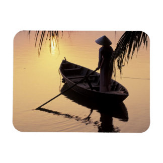 Asia, Vietnam, Mekong Delta, Can Tho. Evening Rectangular Photo Magnet