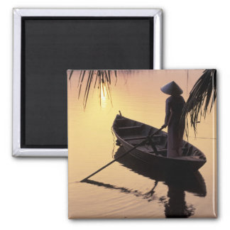 Asia, Vietnam, Mekong Delta, Can Tho. Evening Square Magnet