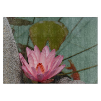 Asia, Vietnam. Water lily in a temple pond Cutting Boards