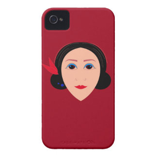 Asia wellness woman on  red iPhone 4 cover