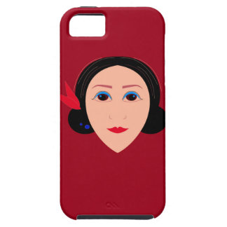 Asia wellness woman on  red iPhone 5 cover