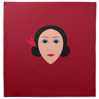 Asia wellness woman on  red napkin
