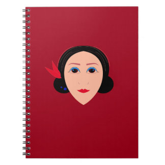 Asia wellness woman on  red notebook