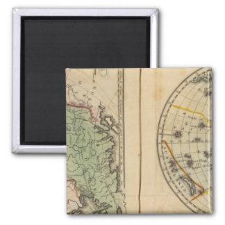 Asia, Western Hemisphere Square Magnet