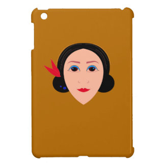 Asia woman on gold case for the iPad mini