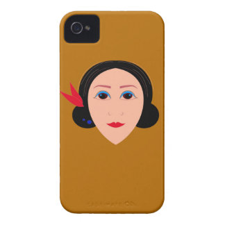 Asia woman on gold Case-Mate iPhone 4 case
