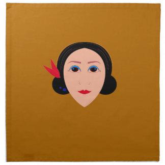 Asia woman on gold napkin