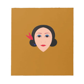 Asia woman on gold notepad