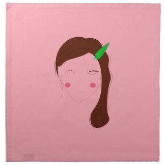 Asia woman pink wellness girl napkin