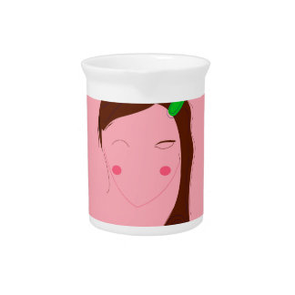 Asia woman pink wellness girl pitcher