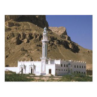 Asia, Yemen, Tarim. White mosque. Postcard