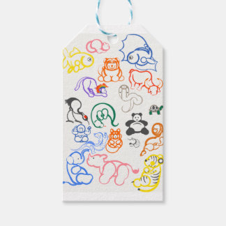 Asian Animals! Gift Tags