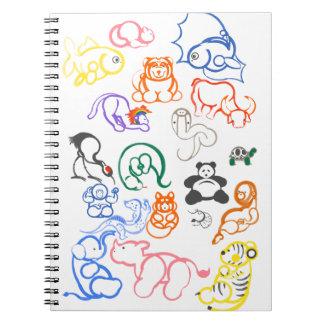 Asian Animals! Notebooks