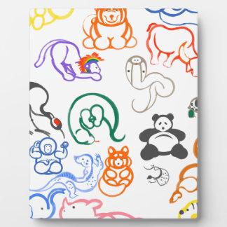 Asian Animals! Plaque