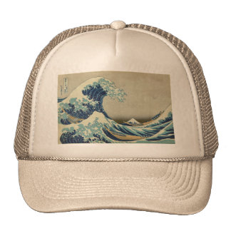 Asian Art - The Great Wave off Kanagawa Cap