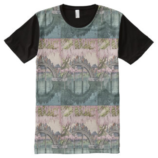 Asian Art Vintage Oriental Classic Masterpiece All-Over Print T-Shirt