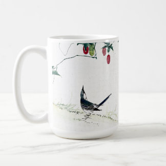 Asian Baby Birds Berries Flowers Mug