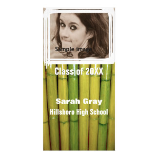 Asian Bamboo Graduation Announcement Photo Insert Personalized Photo Card