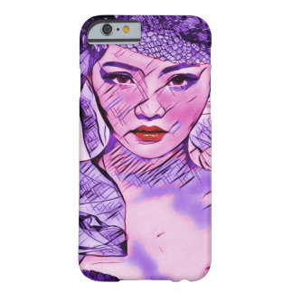 Asian Beauty Abstract Watercolor Portrait Art Barely There iPhone 6 Case