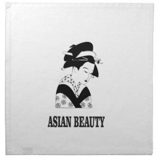 asian beauty woman napkin