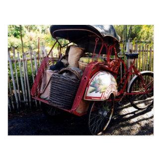 asian bike postcard